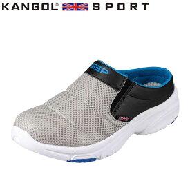 カンゴールスポーツ KANGOL SPORT スポーツサンダル KG8781AA レディース靴 靴 シューズ 3E相当 レディース クロッグサンダル スポーティ クイーンサイズ 大きいサイズ対応 グレー TSRC