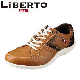 リベルト エドウィン LIBERTOEDWINL L50430 メンズ靴 2E相当 メンズカジュアルシューズ 撥水 はっ水 屈曲性 大きいサイズ対応 28.0cm キャメル TSRC