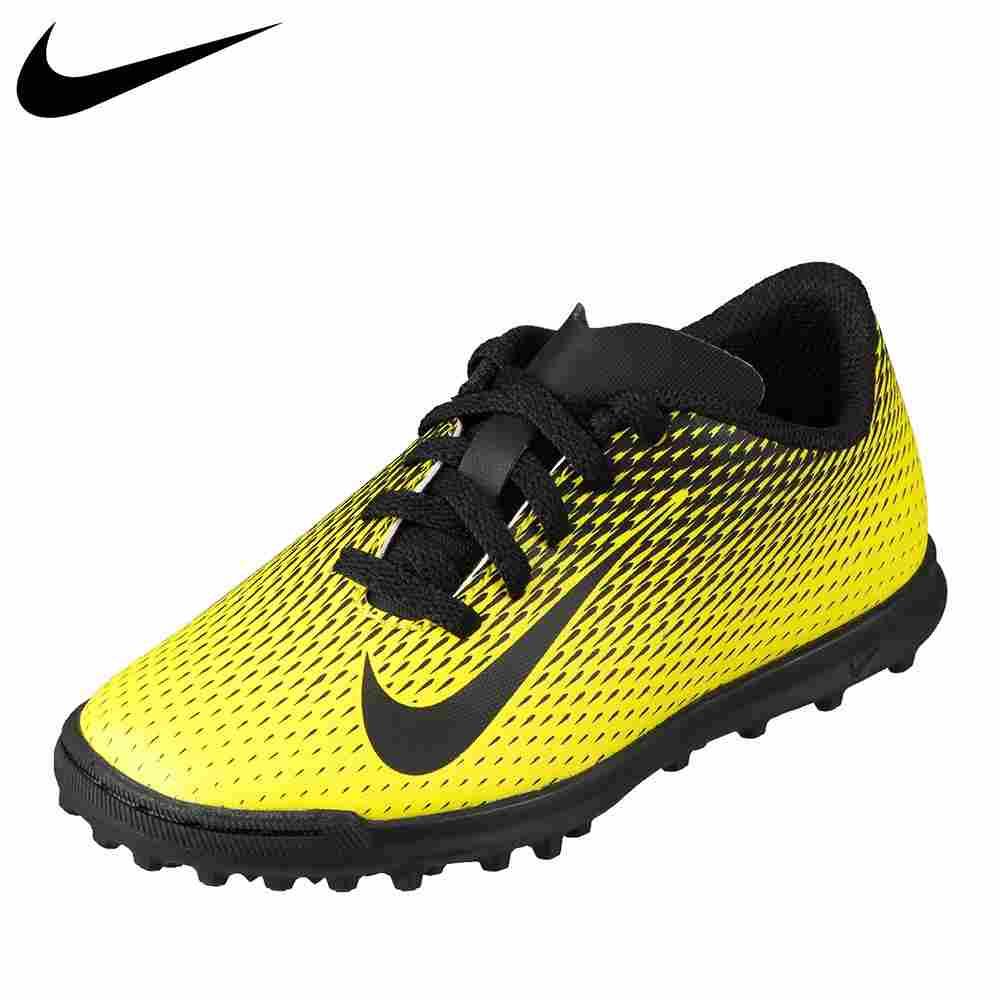 ナイキ NIKE 844440-701 キッズ 靴 靴 シューズ 2E相当 キッズ ジュニア サッカーシューズ マイクロテクスチャード加工 ジュニア ブラバータ II TF イエロー×ブラック TSRC