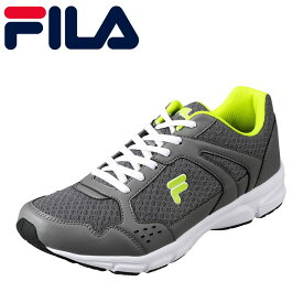 フィラ FILA FC-2209 メンズ靴 3E相当 ランニングシューズ スリムデザイン スポーツ ジム 大きいサイズ対応 グレーイエロー TSRC