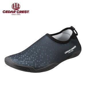 セダークレスト CEDAR CREST CC-9272J キッズ靴 3E相当 ジュニア アクアシューズ マリンシューズ ウォーターシューズ 水抜きソール 人気ブランド ブラック TSRC