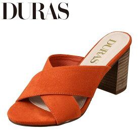 デュラス DURAS DR9660 レディース靴 2E相当 サンダル クロスベルト クッションインソール トレンド 人気 オレンジ TSRC