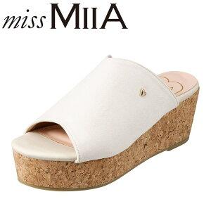 ミーア MIIA MA7000 レディース靴 2E サンダル 厚底サンダル ウェッジソール クッション インソール ベージュ TSRC