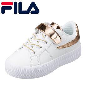 フィラ FILA FC-5212J キッズ靴 子供靴 3E相当 スニーカー 厚底 軽量 軽い 女の子 女子 CarinoJR ゴールド TSRC