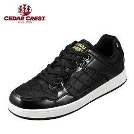 セダークレスト CEDAR CREST CC-9294 メンズ靴 2E相当 スニーカー コートスニーカー 防水 ウォータープルーフ ローカット 大きいサイズ対応 ブラック TSRC