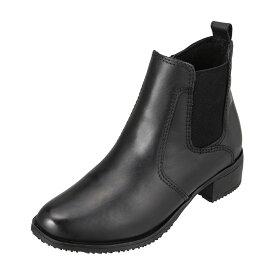 ソニアパレンティ SONIA PARENTI SP-70225 レディース靴 3E相当 ブーツ サイドゴアブーツ 本革 レザー ラウンドトゥ 人気 ブランド ブラック TSRC