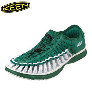 キーン KEEN 1021991 メンズ靴 靴 シューズ 2E相当 スニーカー 軽量 軽い UNEEK O2 ユニーク オーツー 小さいサイズ対応 大きいサイズ対応 グリーン TSRC