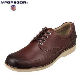 マックレガー McGREGOR MC8011 メンズ靴 靴 シューズ 3E相当 カジュアルシューズ 本革 レザー 低反発 インソール 小さいサイズ対応 レッドブラウン TSRC
