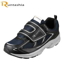 ランタシア RUNTASHIA RT7101 メンズ靴 靴 シューズ 3E相当 スポーツシューズ ランニングシューズ ウォーキングシューズ 小さいサイズ対応 大きいサイズ対応 ネイビー×ブラック TSRC