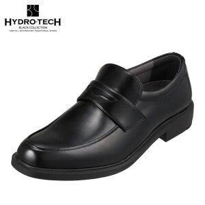 ハイドロテック ブラックコレクション HYDRO TECH HD1425 メンズ靴 靴 シューズ 4E相当 ビジネスシューズ 防水 防滑 雨の日 コインローファータイプ 小さいサイズ対応 大きいサイズ対応 ブラック