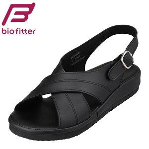 バイオフィッター ナース Bio Fitter BFN-25070 レディース靴 靴 シューズ 3E相当 サンダル ナースサンダル 看護用 仕事用 フィット性 クッション性 疲れにくい 快適 ブラック TSRC