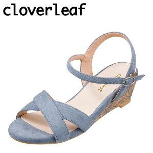 クローバーリーフ cloverleaf CL-1243 レディース靴 靴 シューズ 2E相当 サンダル ウェッジソール 花柄 フラワー ソール ふわふわ インソール ブルー TSRC