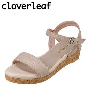 クローバーリーフ cloverleaf CL-1247 レディース靴 靴 シューズ 2E相当 サンダル ウェッジソール フワフワ インソール 人気 ブランド ベージュ TSRC