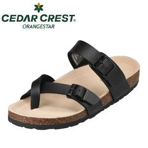 セダークレスト オレンジスター CEDAR CREST CC-2104 レディース靴 靴 シューズ 2E相当 サンダル フットベッド リゾート 旅行 小さいサイズ対応 大きいサイズ対応 ブラック TSRC