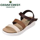 CEDARCRESTセダークレストオレンジスターCC-2205レディースサンダルフットベッドレディース