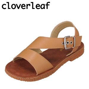 クローバーリーフ cloverleaf CL-136 レディース靴 靴 シューズ 2E相当 サンダル インソール 柔らかい フラットソール ぺたんこ トレンド 人気 キャメル TSRC