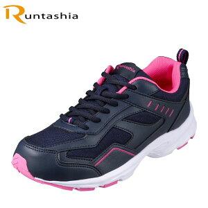 ランタシア RUNTASHIA RT7600 レディース靴 靴 シューズ 3E相当 スポーツシューズ ランニングシューズ 軽量 ローカットスニーカー ジョギング スポーツ ジム ネイビー×ピンク TSRC