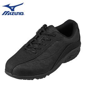 ミズノ MIZUNO B1GL204199 レディース靴 靴 シューズ 4E相当 スポーツシューズ ウォーキングシューズ 幅広 4E 限定 オリジナル ブラック×ブラック TSRC