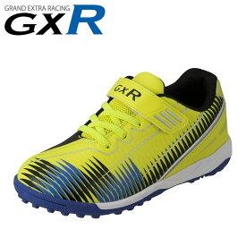 ジーエックスアール GXR GXR-S001 キッズ靴 子供靴 2E相当 スポーツシューズ サッカータイプ 面ファスナー 着脱テープ 男の子 男子 人気 イエロー TSRC