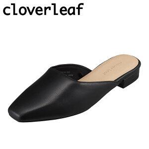クローバーリーフ cloverleaf CL-1006 レディース靴 3E相当 サンダル ミュール スクエアトゥ クッション性 滑りにくい ブラック TSRC