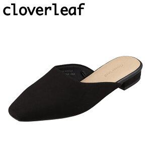 クローバーリーフ cloverleaf CL-1006 レディース靴 3E相当 サンダル ミュール スクエアトゥ クッション性 滑りにくい ブラックスエード TSRC