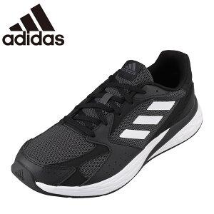 アディダス adidas FY9580 メンズ靴 靴 シューズ スポーツシューズ ランニングシューズ クッション性 衝撃緩和 小さいサイズ対応 大きいサイズ対応 ブラック×ホワイト TSRC
