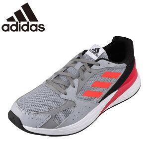 アディダス adidas FY5956 メンズ靴 靴 シューズ スポーツシューズ ランニングシューズ クッション性 衝撃緩和 小さいサイズ対応 大きいサイズ対応 シルバー×レッド TSRC