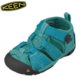 キーン KEEN 1012991 キッズ靴 ベビー靴 靴 シューズ 2E相当 サンダル 軽量設計 SEACAMP II CNX T シーキャンプ ライトブルー TSRC