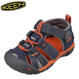 キーン KEEN 1017163 キッズ靴 ベビー靴 靴 シューズ 2E相当 サンダル 軽量設計 SEACAMP II CNX T シーキャンプ ネイビー TSRC