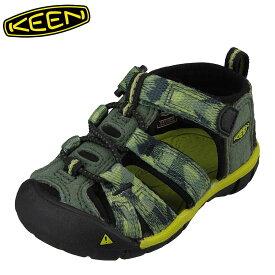 キーン KEEN 1018105 キッズ靴 ベビー靴 靴 シューズ 2E相当 サンダル 軽量設計 SEACAMP II CNX T シーキャンプ グリーン TSRC