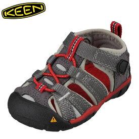 キーン KEEN 1014116 キッズ靴 ベビー靴 靴 シューズ 2E相当 サンダル 軽量設計 SEACAMP II CNX T シーキャンプ ダークグレー TSRC
