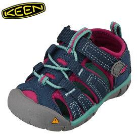 キーン KEEN 1014117 キッズ靴 ベビー靴 靴 シューズ 2E相当 サンダル 軽量設計 SEACAMP II CNX T シーキャンプ ブルー TSRC