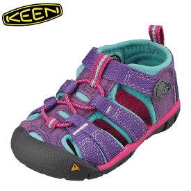 キーン KEEN 1014441 キッズ靴 ベビー靴 靴 シューズ 2E相当 サンダル 軽量設計 SEACAMP II CNX T シーキャンプ パープル TSRC