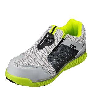 マンダム MANDOM 767 レディース靴 靴 シューズ 4E相当 セーフティーシューズ 安全靴 幅広 4E 樹脂先芯入り 通気性 蒸れにくい ライム×グレー TSRC