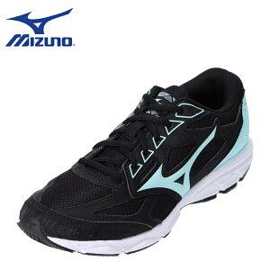 ミズノ MIZUNO K1GA201908 レディース靴 靴 シューズ 4E相当 スポーツシューズ ランニングシューズ 4E 幅広 ワイド 反射材 反射板 夜道 ブラック TSRC