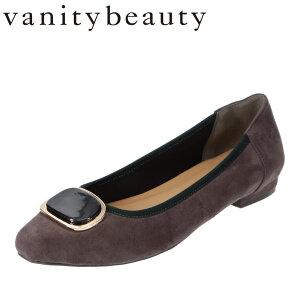 バニティービューティー vanitybeauty VA95336 レディース靴 靴 シューズ E相当 パンプス べっ甲 モチーフ スクエアトゥ クッション インソール グレースエード TSRC