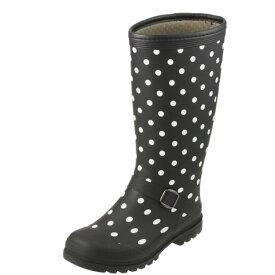[フィールドテックス] FIELD TEX RL-1223 レディース | レインブーツ ロングブーツ | 長靴 雨靴 | 雨対策 防水 | 大きいサイズ対応 25.0cm | ブラック TSRC
