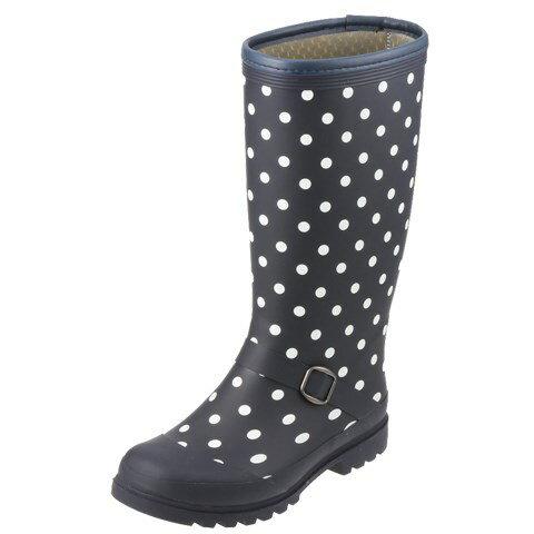 [フィールドテックス] FIELD TEX RL-1223 レディース | レインブーツ ロングブーツ | 長靴 雨靴 | 防寒 防水 ドット柄 | 大きいサイズ対応 25.0cm | ダークブラウン TSRC