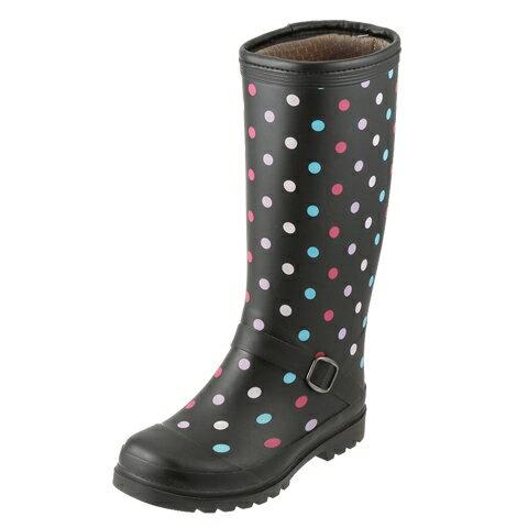 [マラソン期間中ポイント5倍][フィールドテックス] FIELD TEX RL-1223 レディース | レインブーツ ロングブーツ | 長靴 雨靴 | 防寒 防水 ドット柄 | 大きいサイズ対応  25.0cm | マルチ TSRC