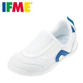 IFME イフミー 上履き うわばき 上靴 スクールシューズ キッズ 靴 靴 シューズ 子供 男の子 バレエシューズ スリッポン 甲高 幅広 幼稚園 保育園 小学校 スペアインソール付き 通気性 履きやすい SC-0002 ブルー TSRC