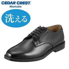 ビジネスシューズ セダークレスト CEDAR CREST CC-1302 メンズ靴 靴 シューズ 24.0 - 28.0cm ビジネス 通勤 仕事 外羽根 カップインソール ウォッシャブル 洗える 通気性 クッション性 大きいサイズ 対応 ブラック TSRC