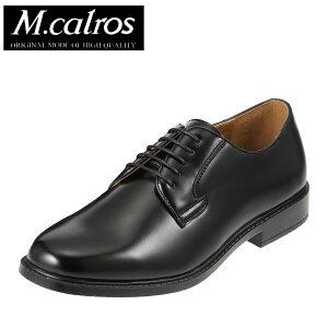 [エムカルロス] M.calros 251 メンズ   ビジネスシューズ 紳士靴   レースアップ 外羽根   軽量 抗菌 防臭   プレーントゥ 幅広 3E   ブラック TSRC