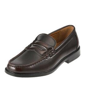 [エムカルロス] M.calros 252 メンズ | ビジネスシューズ 紳士靴 | ローファー スリッポン | 軽量 抗菌 防臭 | コインローファー カジュアル | ダークブラウン TSRC