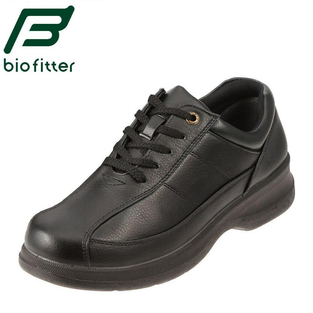 [全商品ポイント5倍][バイオフィッター ベーシックフォーメン] Bio Fitter BF-2911 メンズ   レースアップシューズ   編み上げ カジュアル   脱ぎ履きしやすい 幅広   大きいサイズ対応 28.0cm   ブラック TSRC