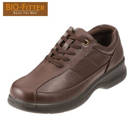 [バイオフィッター ベーシックフォーメン] Bio Fitter BF-2911 メンズ   レースアップシューズ   編み上げ カジュアル   脱ぎ履きしやすい 幅広   大きいサイズ対応 28.0cm   ダークブラウン TSRC