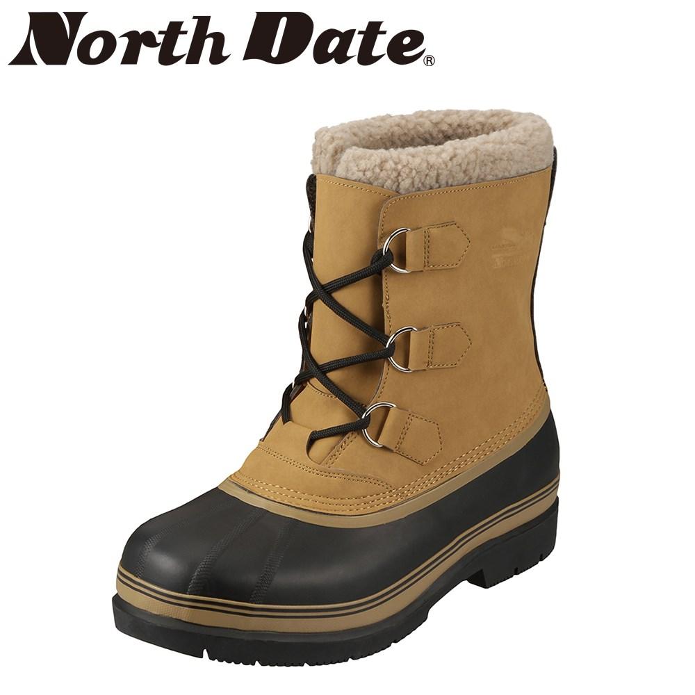 [ノースデイト] North Date MG5001 メンズ | スノーブーツ | ショートブーツ 雪対策 | 防水仕様 ラバーブーツ | 大きいサイズ対応 24.5cm 25.0cm 25.5cm | キャメル TSRC