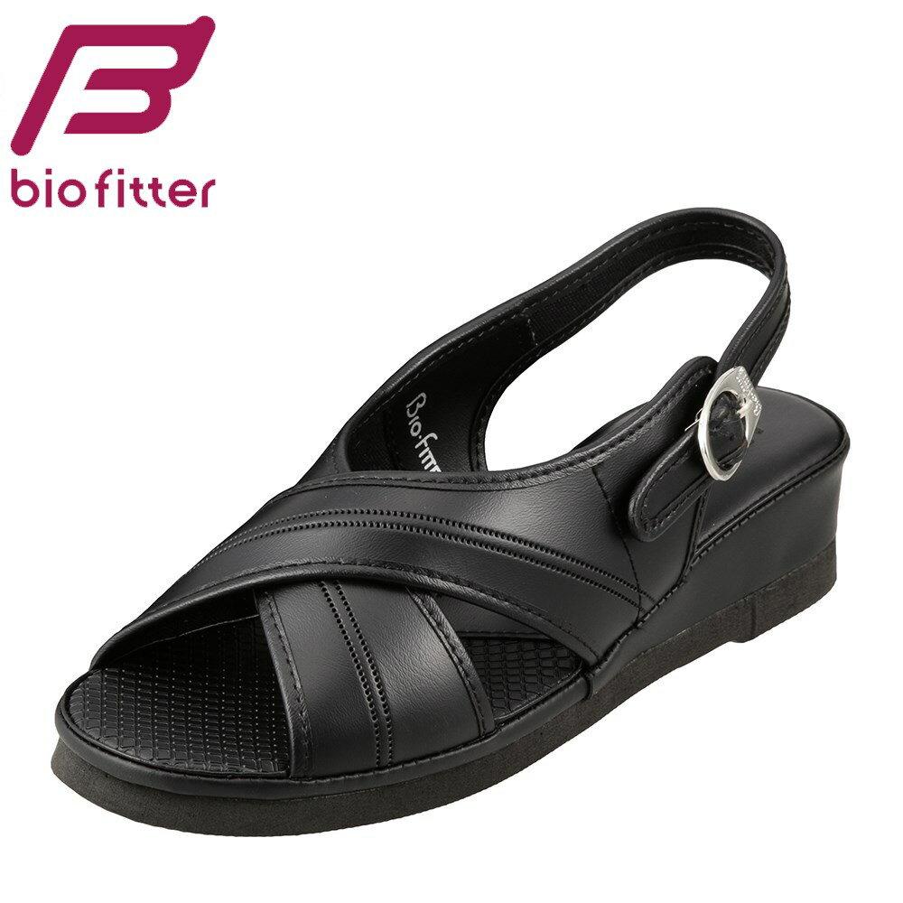 [バイオフィッター ナース] Bio Fitter BFN25062 レディース | ナースサンダル | オフィスサンダル 仕事靴 | 軽量 滑りにくい | 大きいサイズ対応 25.0cm 25.5cm 26.0cm 26.5cm | ブラック TSRC
