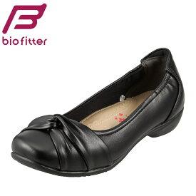 [バイオフィッター キレイウォーク] Bio Fitter BFL-13090 レディース | カジュアルパンプス | ローヒール | 3E 幅広 ゆったり | オフィス用 軽量 | ブラック TSRC