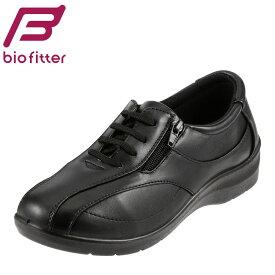 [バイオフィッター レディース] Bio Fitter BFL-012 レディース | ウォーキングシューズ | レースアップシューズ | 編み上げ レースアップ 散歩靴 | 大きいサイズ対応 25.0cm | ブラック TSRC