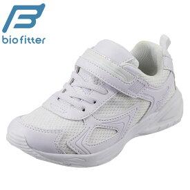 [バイオフィッター スポーツ] Bio Fitter BF-359 キッズ ジュニア   キッズスニーカー 白   通園 通学 運動靴   抗菌 防臭 面ファスナー 着脱テープ   子供靴 男の子 女の子   ホワイト TSRC